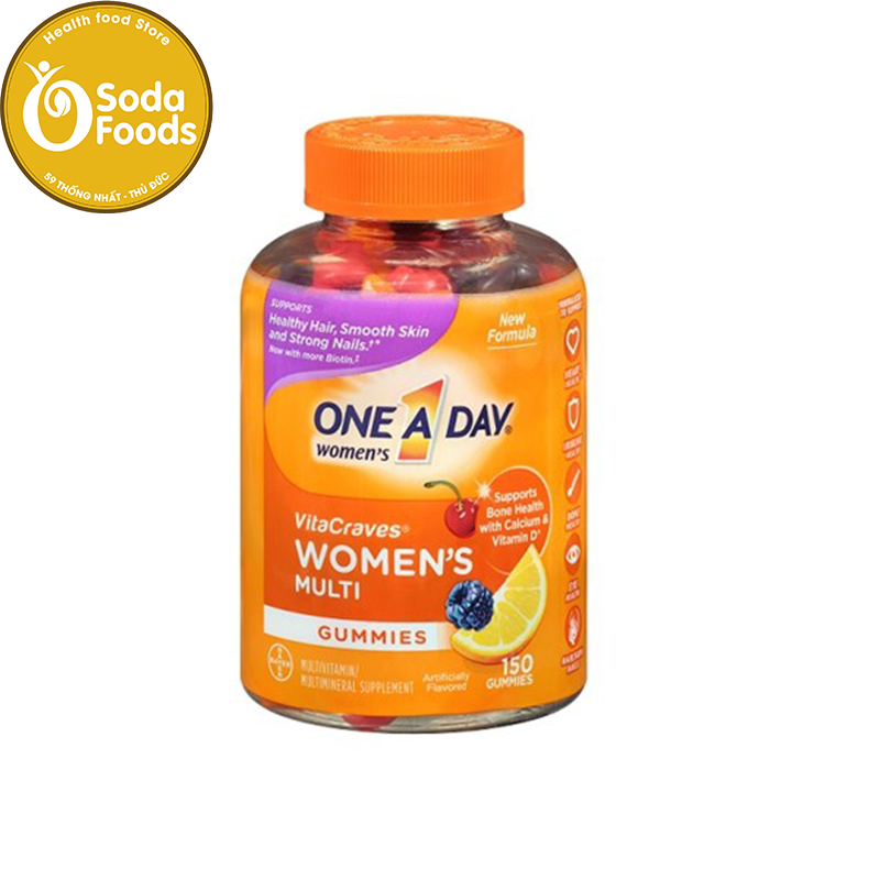 Kẹo Vitamin One A Day Women's Vitacraves Gummies 150v