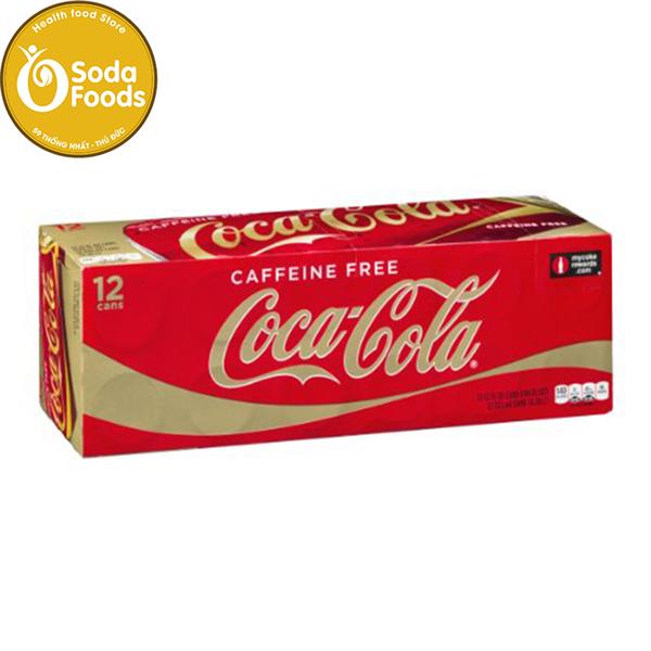 Nước Ngọt Coca Cola Caffeine Free thùng 12 lon ( đỏ vàng )