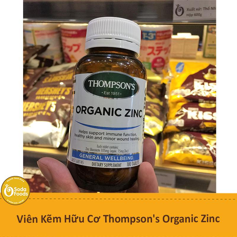 Viên Kẽm Hữu Cơ Thompson's Organic Zinc