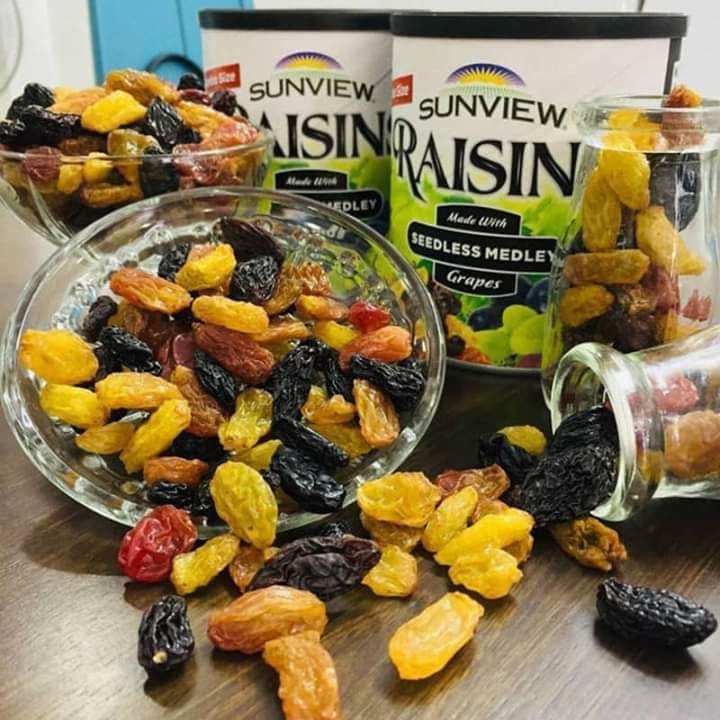 Nho khô không hạt Sunview Raisins Mỹ 425g (hộp)