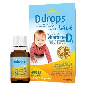 Vitamin D3 Cho Bé – Baby Ddrops 90 giọt (dưới 1 tuổi)