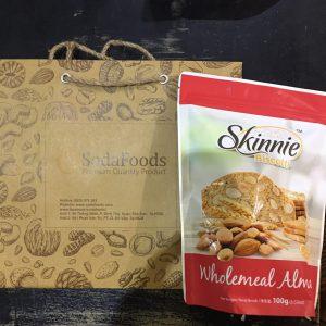 Bánh Hạnh nhân Skinnie Biscotti vị Lúa Mì (100g)