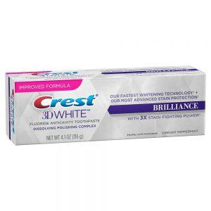 Kem Đánh Răng Làm Trắng – 3D Crest White Brilliance – 116g
