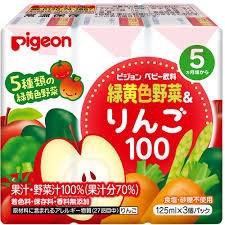 Nước ép Pigeon vị rau củ và táo ( lốc 3 hộp ) 5m+