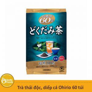 Trà diếp cá thải độc, mát gan Dokudami Orihiro 60 túi Nhật Bản