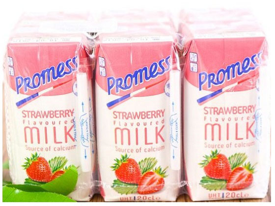 sữa tươi Promess hương dâu nhập khẩu pháp hộp 200ml