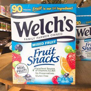 Kẹo Dẻo Welch's Fruit Snacks Mỹ 90 gói