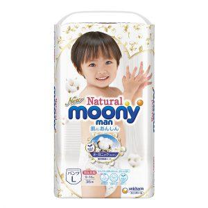 Tã quần Moony Natural size L36 (9-14kg)