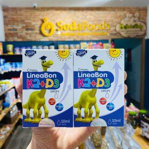 Vitamin LineaBon K2+D3 Drops 10ml hỗ trợ hấp thu Canxi